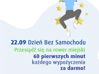 (Polski) Dzień bez samochodu na Otwockim Rowerze Miejskim: pierwsza godzina za darmo